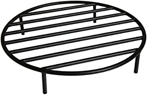onlyfire Round Fire Pit Grate with 4 Legs for Outdoor Campfire Grill Cooking, 22 Inch