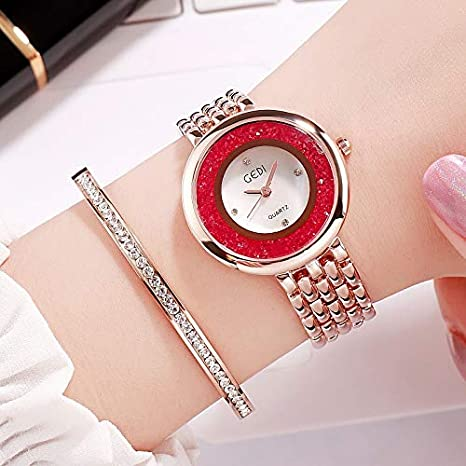 GUOZBIAOA Reloj De Dama Relojes Mujer Nueva Flor Rhinestone Reloj ...