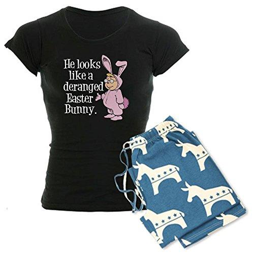 CafePress - Deranged Easter Bunny Women's Dark Pajamas - Womens Novelty Cotton Pajama Set, Comfortable PJ Sleepwear