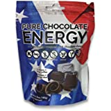 Pure Chocolate Energy Chews. All Natural Dark Chocolate with Caffeine, Vitamin B12, Green Tea, Kosher, Vegan, Non-GMO, Gluten Free, Dairy Free, Soy Free, Made in USA (30 Count)
