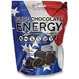 Pure Chocolate Energy Chews. All Natural Dark Chocolate with Caffeine, Vitamin B12, Green Tea, Kosher, Vegan, Non-GMO, Gluten Free, Dairy Free, Soy Free, Made in USA (30 Count)