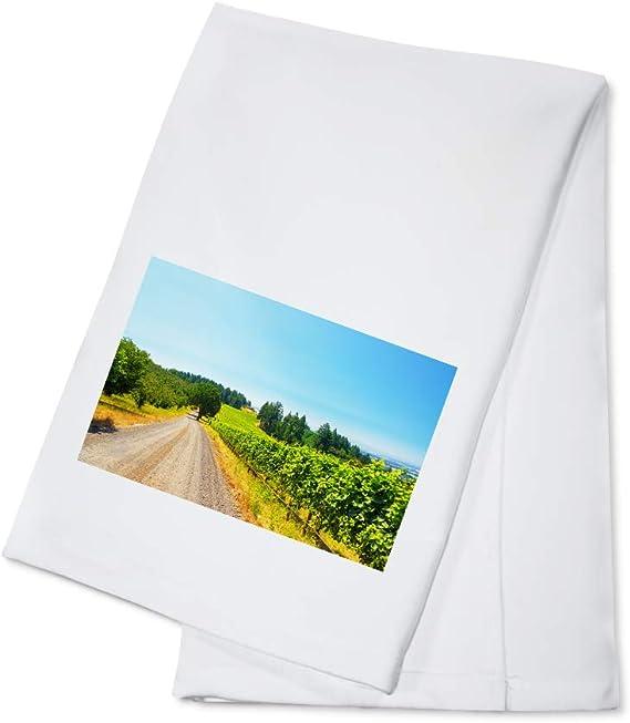 Oregon - Vineyard - Photography A-94411 (100% Cotton Kitchen Towel)