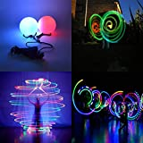 LED Poi Balls- 2020 Upgraded Spinning Poi Toy for