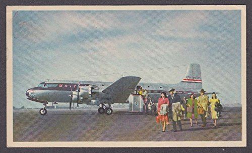 United Airlines DC-6 Mainliner 300 postcard - Airlines United Dc