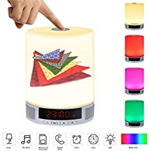 LED Card Speaker LED Table Lamp,Alarm Clock,Hands-Free Speakerphone with Mic,Personality pattern-106.dog bandanas pet grooming cute accessories