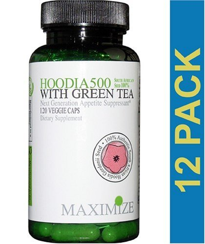Hoodia 500, Maximize, Maximum International, 120 Veggiecaps, 12 bottles
