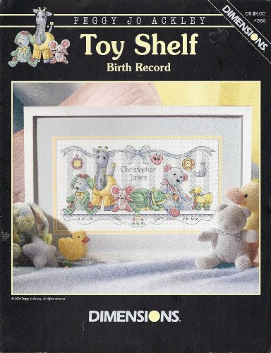 Toy Shelf Birth Record Cross Stitch Pattern (362)