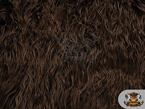 Faux Fur Long Pile Mongolian Sheep Chocolate Fabric / 64