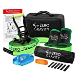 Zero Gravity Slacklines Slackline Kit with Industry Leading Carry Bag, Upgraded Ratchet w/Molded Finger Grip & Smooth Operation + Tree Protectors; Great Set for Kids, in All Respects