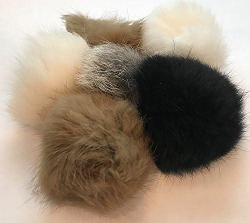 Barker Brands Inc. Real Fur Balls Natural Cat Toy 6 Pack 5