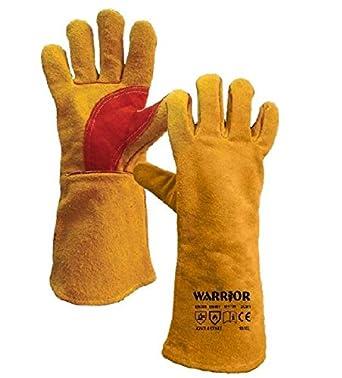 "Warrior Workwear 01pk11 W + YW superior soldadura guante guante, tamaño 15,"""