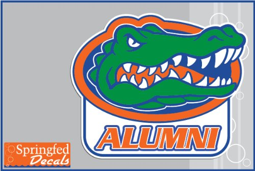 Florida Gators ALUMNI w/ GATOR HEAD LOGO #1 Vinyl Decal Car Truck Window UF Baseball (Baseball Logo Vinyl Sticker)