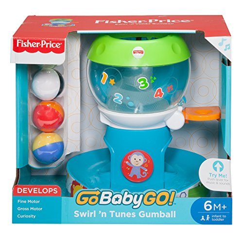 Swirl Ball - Fisher-Price Go Baby Go! Swirl 'n Tunes Gumball - Go Baby Go!, Multi Color