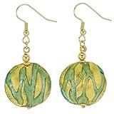 GlassOfVenice Murano Glass Royal Aquamarine Circles Earrings