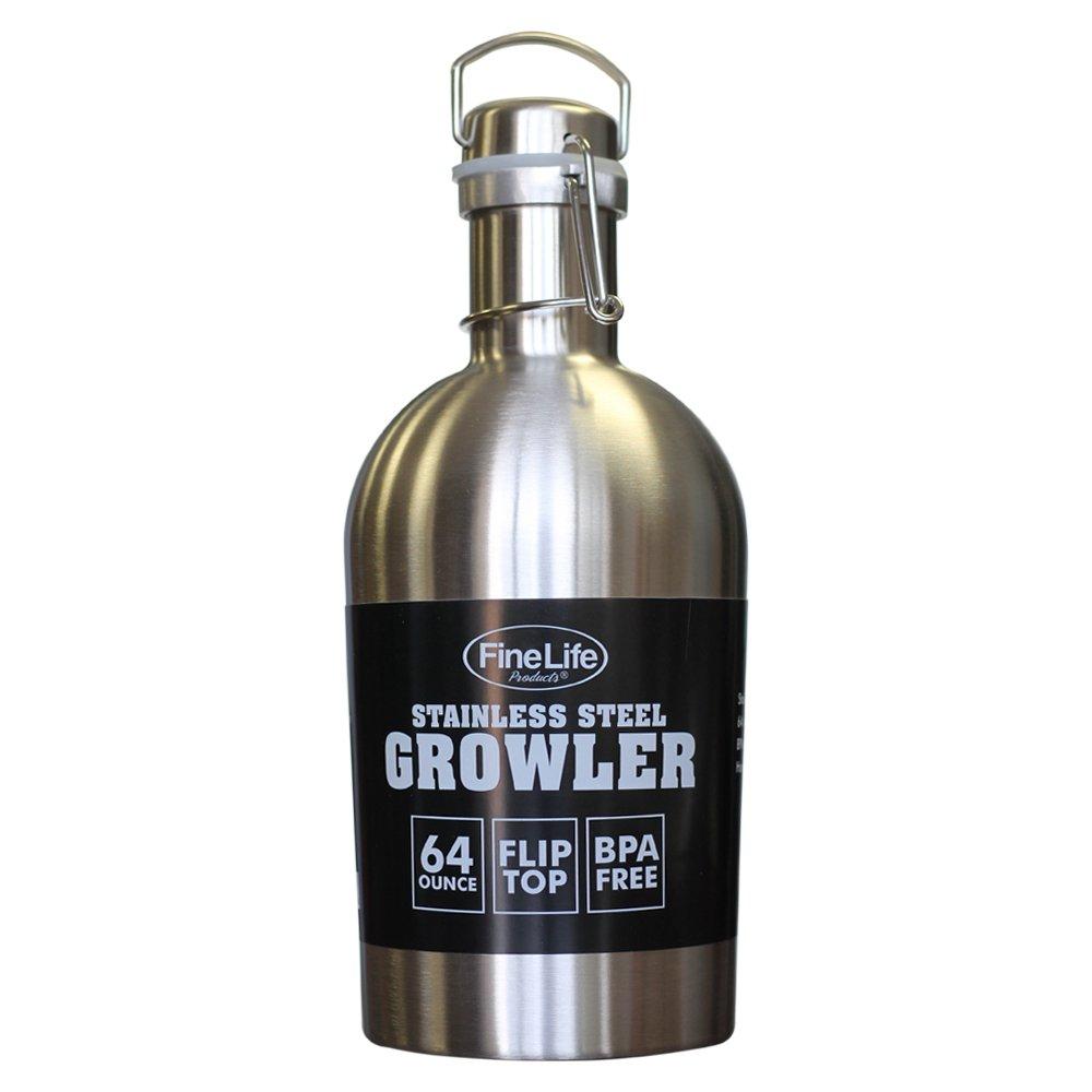 【内祝い】 クラシック ステンレススチール 64オンス グロウラー 便利なスウィングトップ クラシック 密閉シールで自家製醸造を新鮮に保ちます B073HPTZNY。 BPAフリー。 BPAフリー。 ハイキング、旅行、ハンティング、登山に最適。 B073HPTZNY, PP ラボ:8e805155 --- a0267596.xsph.ru