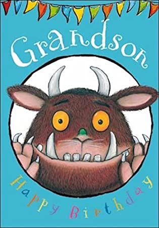 The Gruffalo Grandson Birthday Card The Gruffalo Blue Wdm5981