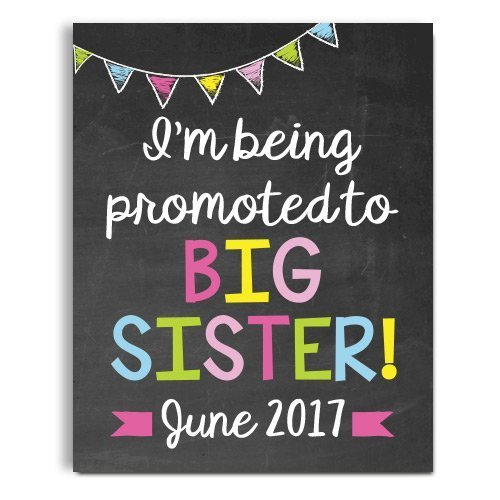 (Big Sister Pregnancy Announcement Paper Art Print | Pregnancy Announcement Sign | Baby Announcement Photo Prop | Big Brother Sign | New Baby Sign)