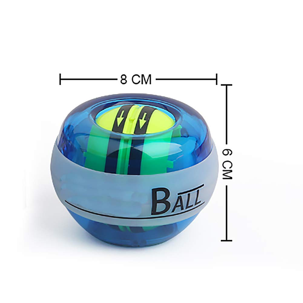 Wudi Renforcer Fitness Poignet Ballon Gyroscope Power Ball et exerciseur de lavant-Bras Bleu Clair