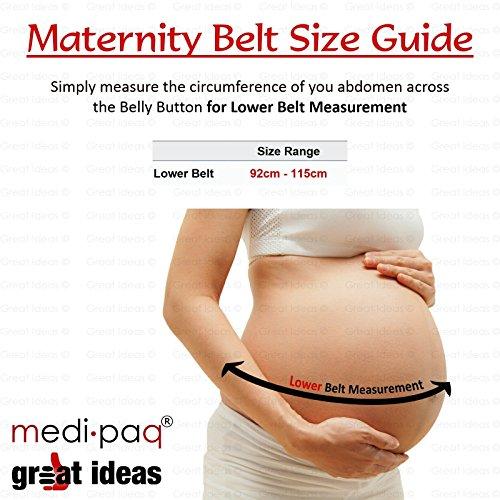 Medipaq® Bebé de maternidad Bump Apoyo Cinturón blanco 1x Support