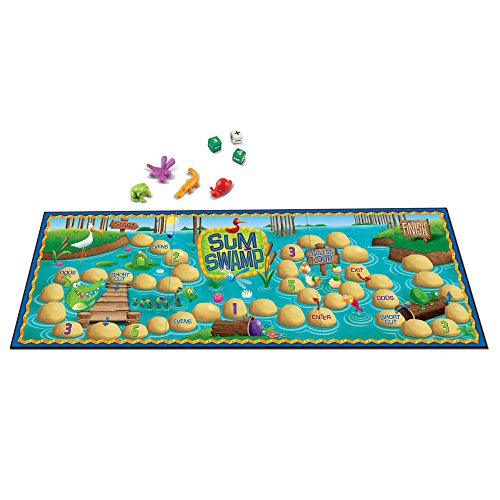 Learning Resources Sum Swamp Game, Addition/Subtraction, Early Math Skills, 8 Pieces, Ages 5+ -