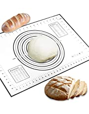 Conleke Silicone Pastry Mat for Pastry Rolling with Measurements, 15.7in x 23.6in Non-Slip Non-Stick Silicone Pastry Mat for Baking Dough Rolling Mat Pie Crust Mat Oven Liner