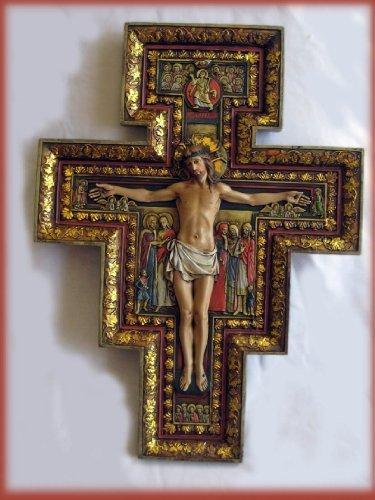 SAN DAMIANO CROSS Large 18 Inch Beautiful Renaissance ()