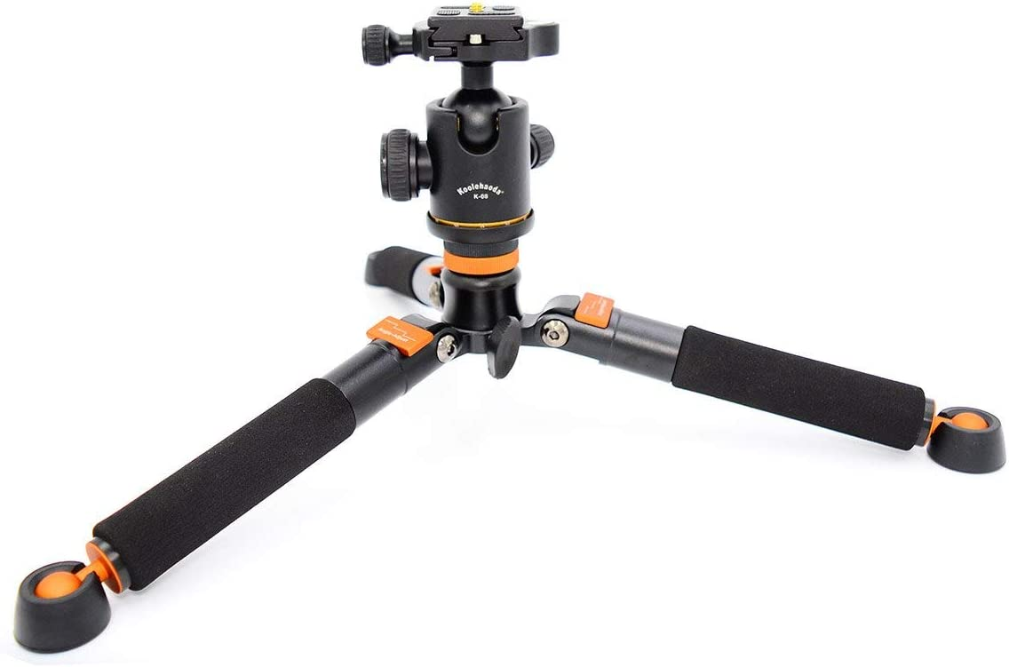 Koolehaoda Mini Tripod /& K-08 Ball Head for 1//4 or 3//8 Monopods-SLR Camera