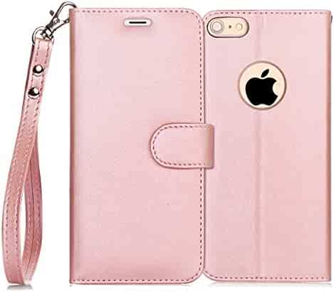 iPhone 6S Plus Case, iPhone 6 Plus Case, FYY [Kickstand Feature] Flip Folio Leather Wallet Case with ID&Credit Card Pockets for Apple iPhone 6/6S Plus (5.5 inch) Rose Gold