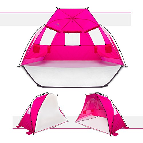 Purple Beach Tent or Sun Shelter Tent by COMFORT BOSS u2013 Collapsible Beach Umbrella Tent u2013 Pops up Conveniently ...  sc 1 st  Hiking Gear Store & Beach Tent or Sun Shelter Tent by COMFORT BOSS u2013 Collapsible Beach ...