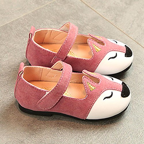 - Hemlock 1-6 Years Old Girl Flat Shoes Fox Ballerina Sandals Princess Dress Shoes Baby Soft Sandals (3 years old, Pink)