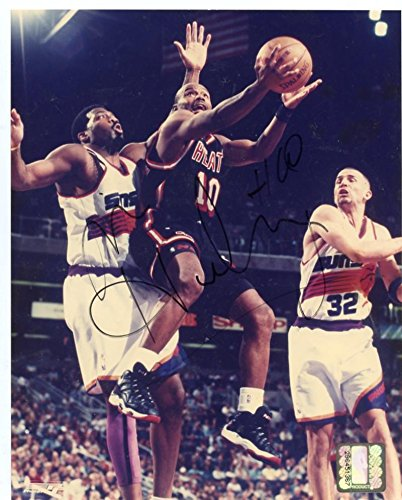 TIM HARDAWAY MIAMI HEAT SIGNED AUTOGRAPHED 8X10 PHOTO W/COA by ALL STAR CARDS & COLLECTIBLES