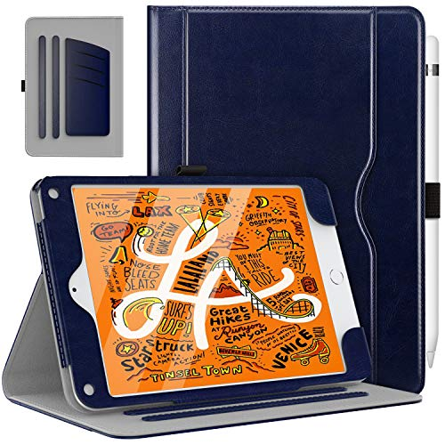 MoKo Case Fit New iPad Mini 5 2019 (5th Generation 7.9 inch) - Slim Folding Stand Folio Cover Case with Auto Wake/Sleep and Document Card Slots, Multiple Viewing Angles - - Interior Pocket Small
