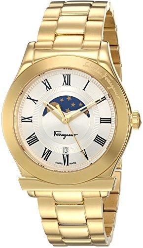 Salvatore-Ferragamo-Mens-FERAGAMO-1898-Quartz-Stainless-Steel-Casual-Watch-ColorGold-Toned-Model-FBG070016