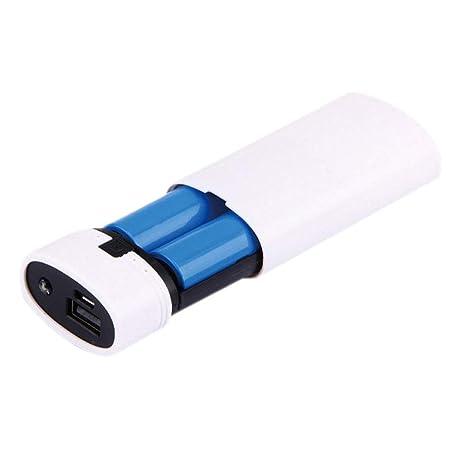 2 piezas 18650 Batería Caja USB Batería USB Cargador Funda Plástico iphone