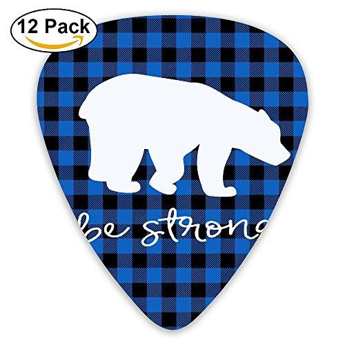 Libra Black Personalized Plaid Bear Buffalo Acoustic Thin Heavy Medium Electric Guitar Picks Girls 12 Packs Cigar Box Guitar