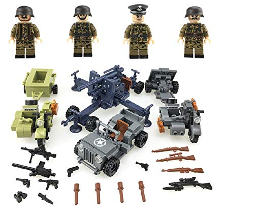 funtoys24, German Army Camouflage Soldiers Weapons Military Series Army, Mini Figures, 100% Compatible Building Blocks Toys Set ()