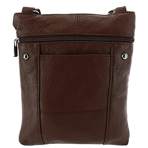 Ctm Crossbody Foncé Pocket Leather Marron Femmes Multi Oxqnt1Cw6a