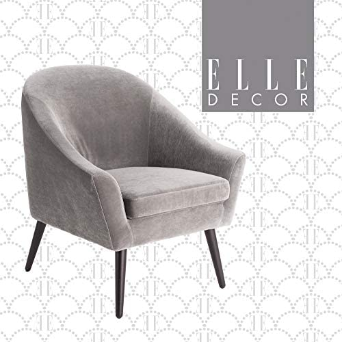 Elle Decor Elle D cor Laurel Accent Chair, Gray