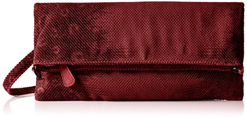 Boscha Damen Clutch, 1x14x29 cm Rot (Marsala)