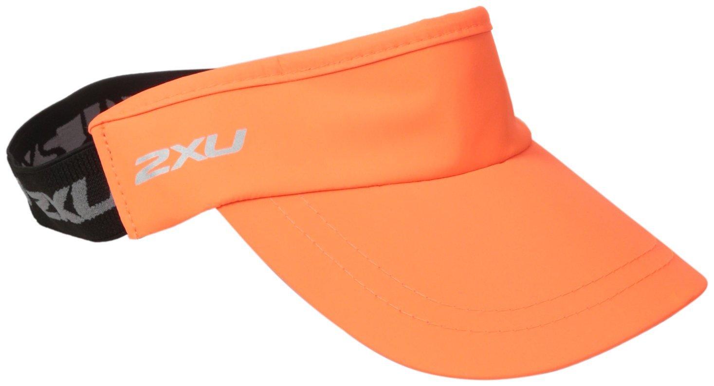 2XU(ツータイムズユー) ユニセックス パフォーマンス バイザー (ランニング用サンバイザー) B01B8LJAH8 オレンジ/インク(SBO/INK)