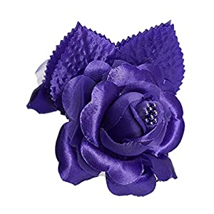 shia 12 Silk Roses Wedding Favor Flower Corsage Purple 95