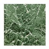 MAX KD0108 Green Marble Peel & Stick Vinyl Floor Tile, 12 x 12''