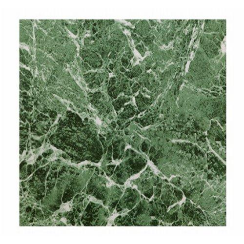 MAX KD0108 Green Marble Peel & Stick Vinyl Floor Tile, 12 in. x 12 in (Green Vinyl Flooring)