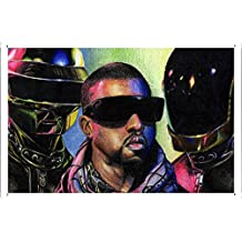 Daft Punk Vs Kanye West Metal Plate Tin Sign Poster Wall Decor (20*30cm) By Jake Box