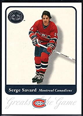 Hockey NHL 2001-02 Fleer Greats of the Game #85 Serge Savard Canadiens