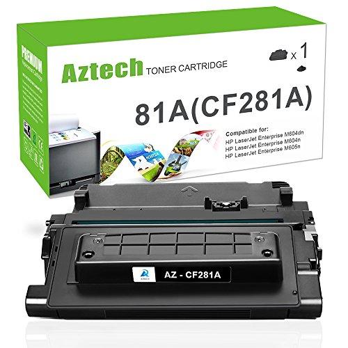 Aztech Compatible Toner Cartridge Replacement for HP 81A CF281A HP M605 M604 M604N M604DN M605N M605DN M605X HP Laserjet Enterprise M605 M604 M605N M604N M605DN M605X M604DN Printer Ink (Black,1-Pack)
