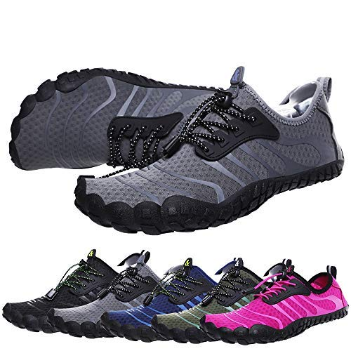 Bridawn Men Women Quick Dry Barefoot Hiking Water Shoes for Swim Surf Exercise ()