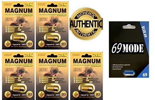 (Magnum 24K Male Sexual Performance Enhancer 5Pills 69MODE Blue69 1Pill - Authorized Dealer)