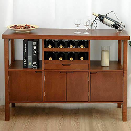 Heavens Tvcz Wine Cabinet Multipurpose Wood Kitchen Table Furniture Storage Sideboard Serving Coffee Elegant Classic Cupboard Buffet Rack Server Dining Room Restaurant (For Buffet With Mirror Antique Sale)