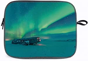 """Northern Lights Old Aurora 14"""" Laptop Sleeve Bag Compatible with MacBook Pro,MacBook Air,Notebook Co"""